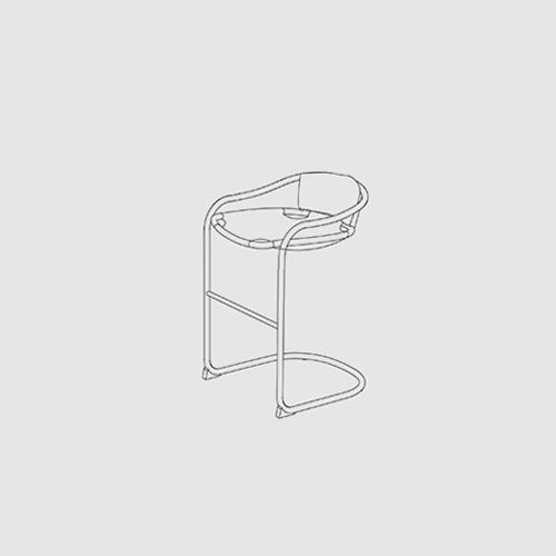 Astonishing Caribou Bar Stool Ochre Bralicious Painted Fabric Chair Ideas Braliciousco